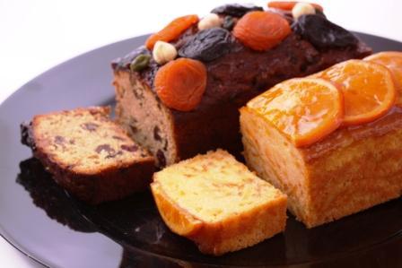 フルーツケーキとオレンジケーキ