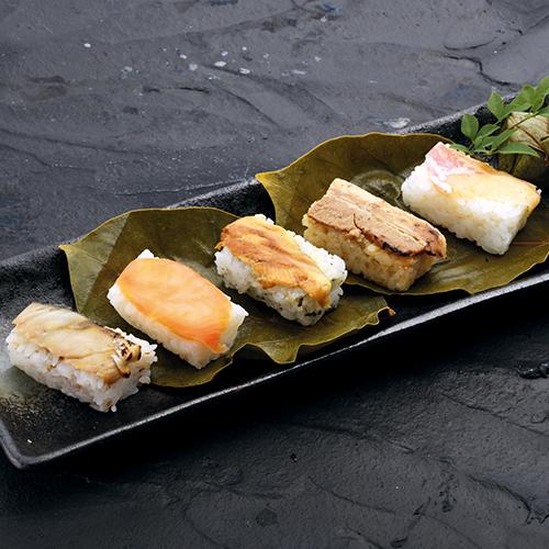 中谷本舗 蒸し柿の葉寿司 5種20個入